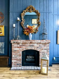 Our beautiful fireplace will warm up your fall evenings
